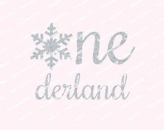 Onederland Iron On, Snowflake, Winter One, Non-Shed Glitter, Shirt Iron On, DIY, Iron-On Heat Transfer, Glitter, NOT DIGITAL iron on decal