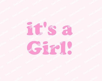 its a girl announcement etsy