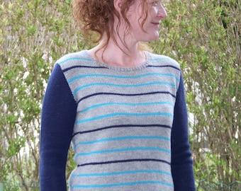 "Knitting pattern Pullover ""Spring Stripes"""