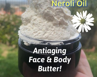 Anti Aging Face and Body Butter- This butter is specially made to help fade age spots,sun spots,fine lines, dry skin and give youthful skin!