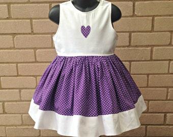 Purple Polka Dot Dress - Precious Party Dress - Occasion Dress - Girls Party Dress - Princess Dress - Party Dress - Polka Dot