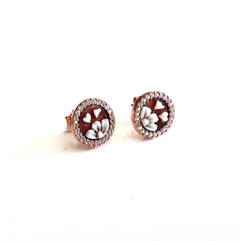 9dd93459f9bd Shell cameo lobe earrings italian cameos jewelry donadio cameo