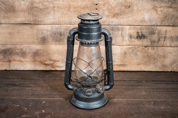 Vintage Dietz #20 Lantern Gray Railroad Large Lantern Metal Hanging Rustic Wedding Lighting Style Home Decor