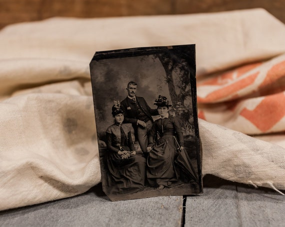 Antique Tintype Photography Family Photo Tintype Photograph Photo Props