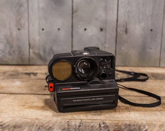 Vintage Polaroid One Step Pronto Land Camera Black Collectable Camera Photography Prop