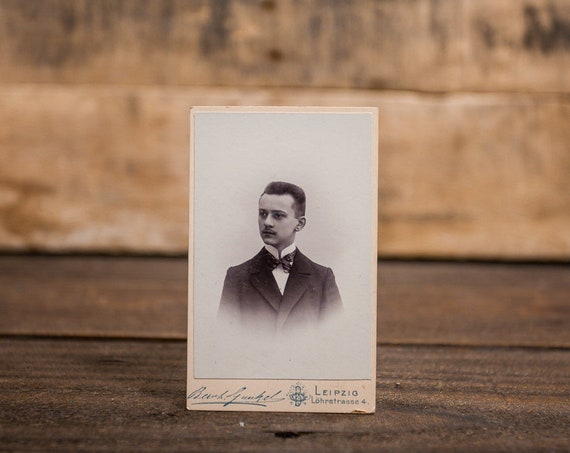 Antique Cabinet Card Photography Boy Photo Young Man Leipzig Photograph Photo Props