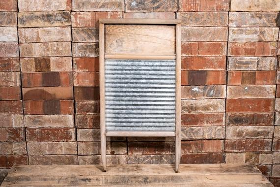 Vintage Sunnyland Washboard Wood Metal Farmhouse Washboard Advertising Country Laundry Decor