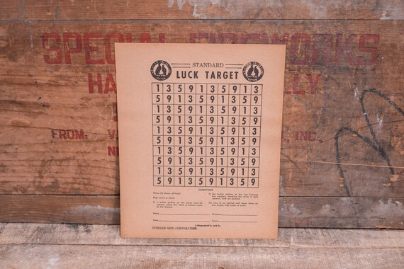 Vintage Stoeger Arms Corp Luck Target Game Advertising Hunting Man Cave Cabin Decor Lot of 5