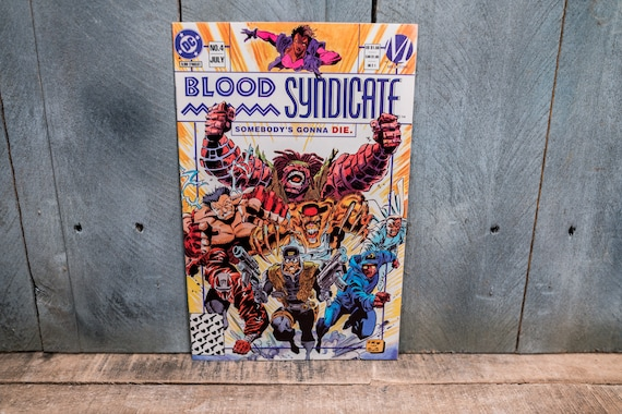 Vintage 1993 Blood Syndicate #4 Comic Book Modern Age Super Hero Comics