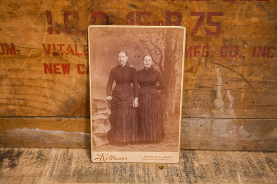 Antique Cabinet Card Photography Sisters Photo Kottmann Photograph Photo Props Philipsburg PA