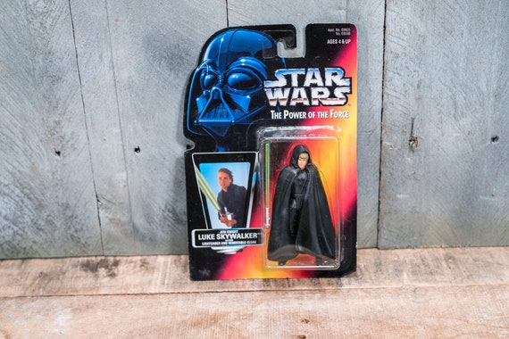 Vintage Star Wars Action Figure Luke Skywalker Jedi Knight The Power of the Force Kenner Figure Star Wars Toy