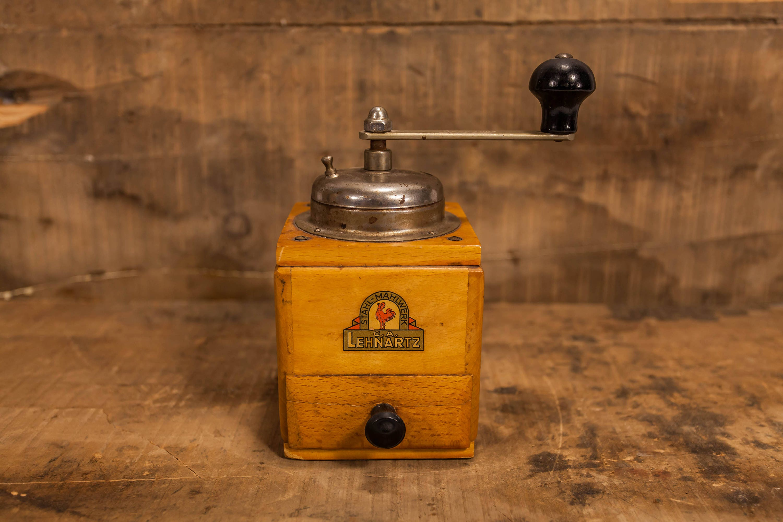 Vintage C.A. Lehnartz Stahl-Mahlwerk Coffee Mill Hand Crank Handled ...