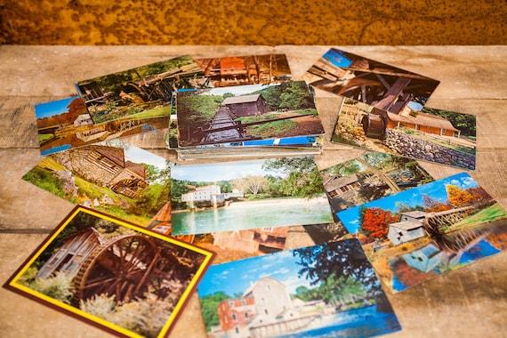 Vintage Water Mill Wind Mill Unused Postcard Lot of 10 Ephemera Mixed Lot United States 1900s-1980s