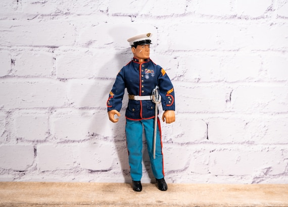 Vintage 1994 GI JOE Hasbro Marine Parade Dress Outfit Soldier Action Figure Toys 12 inch Collectable Toy