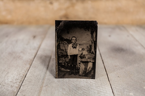 Antique Tintype Photography Boy Photo Tintype Photograph Photo Props