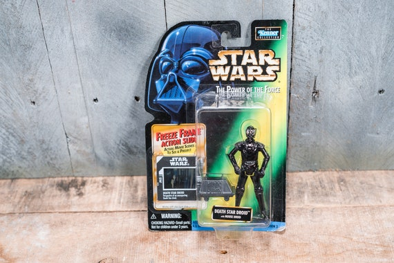 Vintage Star Wars Action Figure Death Star Droid The Power of the Force Freeze Frame Kenner Figure Star Wars Toy