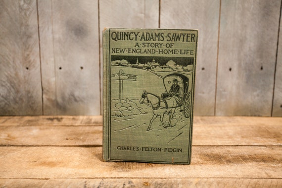 Vintage 1903 Quincy Adams Sawyer The Story of New England Home Life Charles Felton Pidgin Book