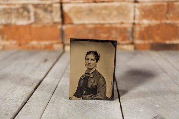 Antique Tintype Photography Woman Photo Tintype Photograph Photo Props