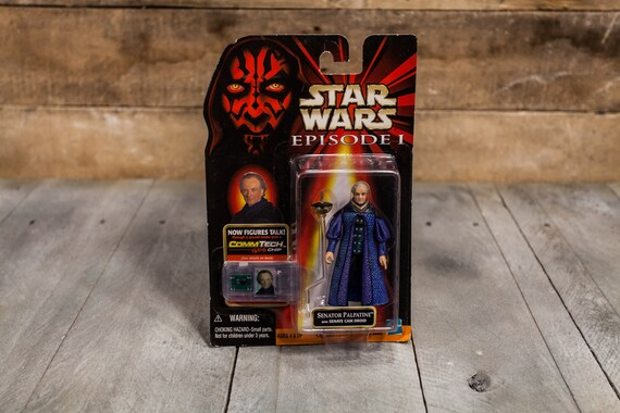 Vintage Star Wars Action Figure Senator Palpatine Episode 1 Comm Tech Chip Collection 2 Hasbro Figure, Star Wars Toy