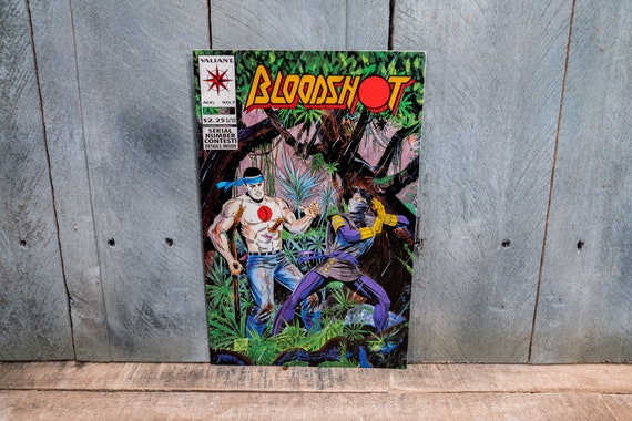 Vintage 1993 Bloodshot #7 Comic Book Modern Age Super Hero Comics