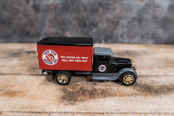 Vintage 1931 Dodge Bros AMOCO Freight Bank ISO-VIS Motor Oil Gasoline Die-Cast Man Cave
