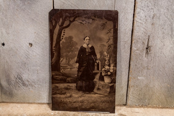 Antique Tintype Photography Old Women Photo Tintype Photograph Photo Props