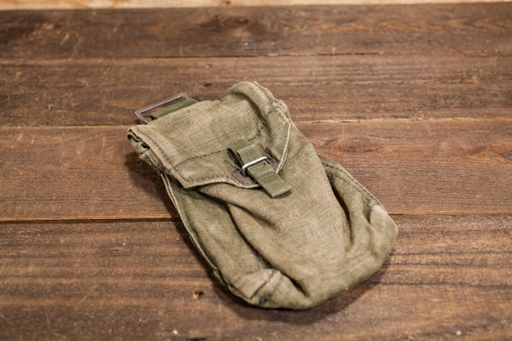 Vintage Military Medic Bag First Aid Box Belt Bag Pouch Rustic Man Cave Army WWII