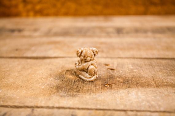 Vintage Red Rose Tea Koala Wade England Collectable Figurine Rose Tea Figures Wade Whimsies Wade Pottery Miniature Figurine