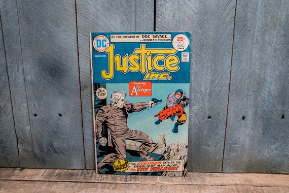 Vintage 1975 Justice Inc #2 Comic Book Bronze Age Super Hero Comics