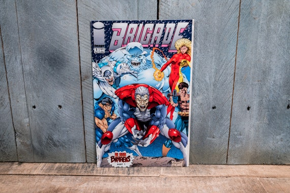 Vintage 1993 Brigade #1 Comic Book Modern Age Super Hero Comics