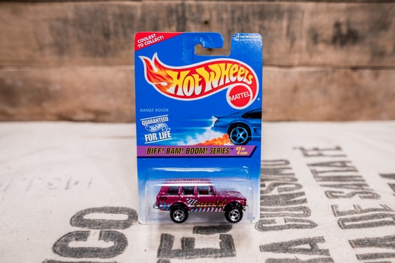 Vintage Hot Wheels 1996 Range Rover Biff Bam Boom Series Zoom into Action #544 Mattel Collectable Toy Unopened Original Car Kids Man Cave