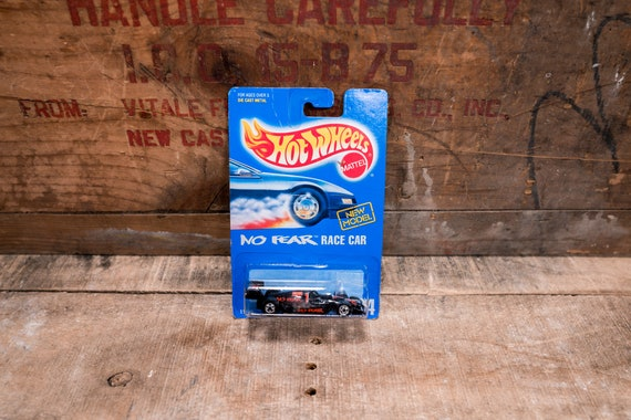 Vintage Hot Wheels 1991 No Fear Race Car Mattel Collectable Toy Unopened Original Car Kids Man Cave