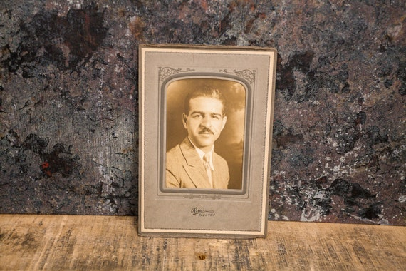 Antique Cabinet Card Photography Man Photo Raw Trenton Photograph Photo Props