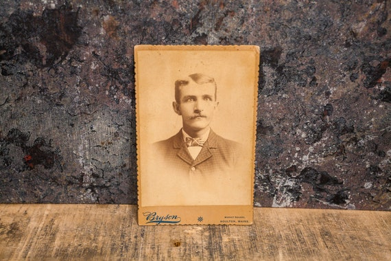 Antique Cabinet Card Photography Man Photo Bryson Photograph Photo Props