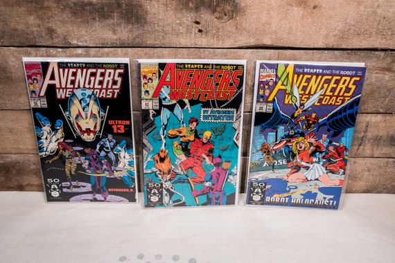 Vintage Avengers West Coast Lot #66 #67 #68 Marvel Comic Book