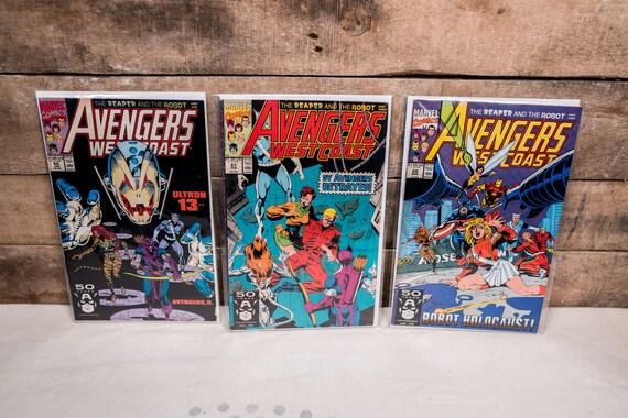 Vintage Avengers West Coast Lot #66 #67 #68 Marvel Comic Book