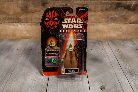 Vintage Star Wars Action Figure Boss Nass Episode 1 Comm Tech Chip Collection 3 Hasbro Figure, Star Wars Toy