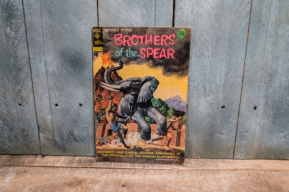 Vintage 1974 Brothers of the Spear Comic Book Gold Key Comics