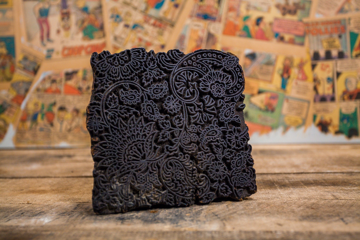 Blossom Hand-carved Indian Woodblock Stamp