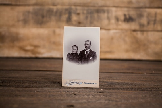 Antique Cabinet Card Photography Married Couple Photo Woman Man Photograph Photo Props