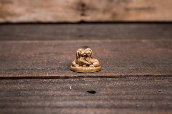 Vintage Red Rose Tea Puppy Dogs Wade England Collectable Figurine Rose Tea Figures Pottery Miniature Figurine