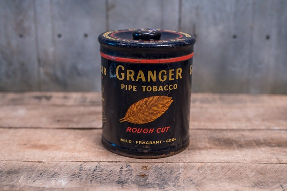 Vintage Granger Tobacco Tin Can Pointer Dog Man Cave Cigarette Tin Can Liggett & Myers Tobacco Canister