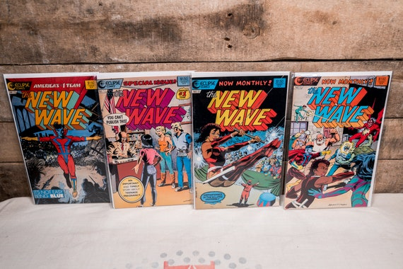 Vintage 1980s New Wave Comic Book Lot #10 #11 #12 #13 Eclipse Comics