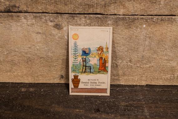 Vintage Chemical Baking Powder Advertising Trading Card Ephemera Victorian