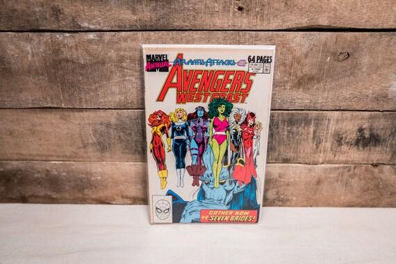 Vintage Avengers West Coast Annual #4 Marvel Comic Book