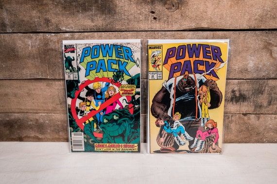 Vintage Power Pack Comic Book Lot #32 #55 Marvel Comic Book