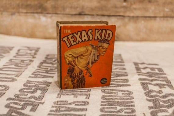 Vintage 1937 The Texas Kid Big Little Book #1429 Steve Saxton Whitman Publishing Collectable Books