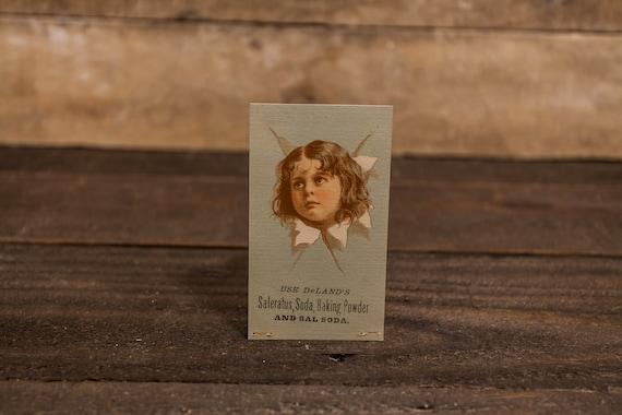 Vintage DeLand's Saleratus Soda Baking Powder Advertising Trading Card Ephemera Victorian