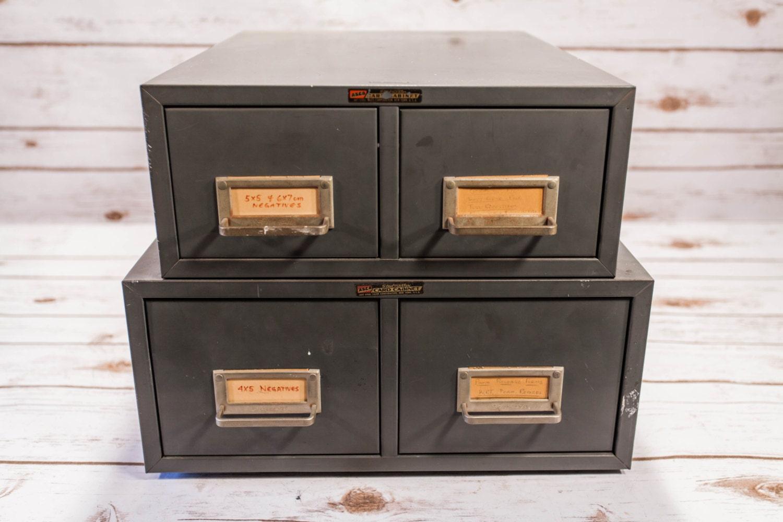 File Check Out Card vintage asco art steel metal drawer index card cabinet