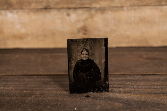 Antique Tintype Photography Woman Photo Tintype Photograph Photo Props